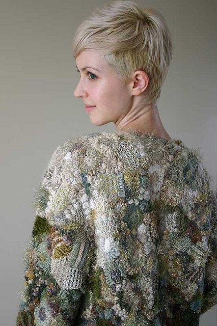Knitting Wearable Art : Freeform a prudence mapstone creation