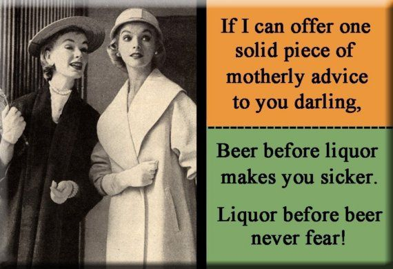 Beer before liquor makes you sicker Liquor before by mindseyecards, $4.00