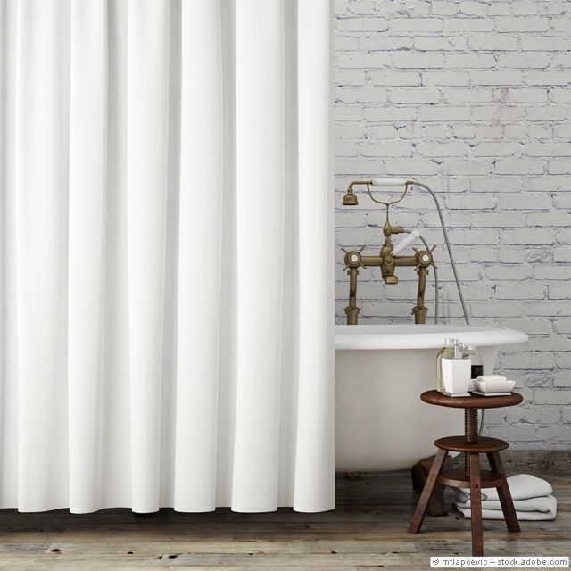 Mock Up Vintage Hipster Bathroom With White Curtains, Interior Background,  Render   Stock Photo Awesome Ideas