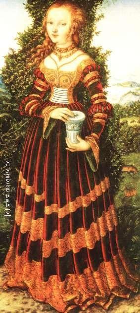 (1525) by Lucas Cranach the Elder. I love his worldly/otherworldly women.