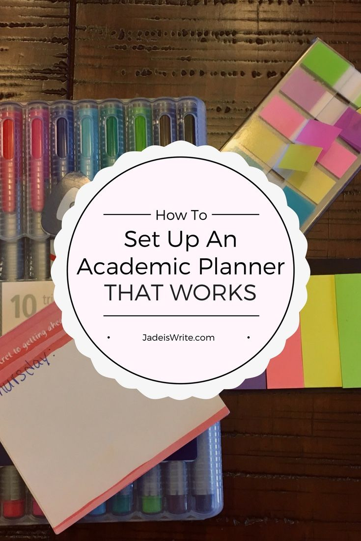 Provides a step-by-step process for choosing a planner, setting it up, and using it to be successful and organized.