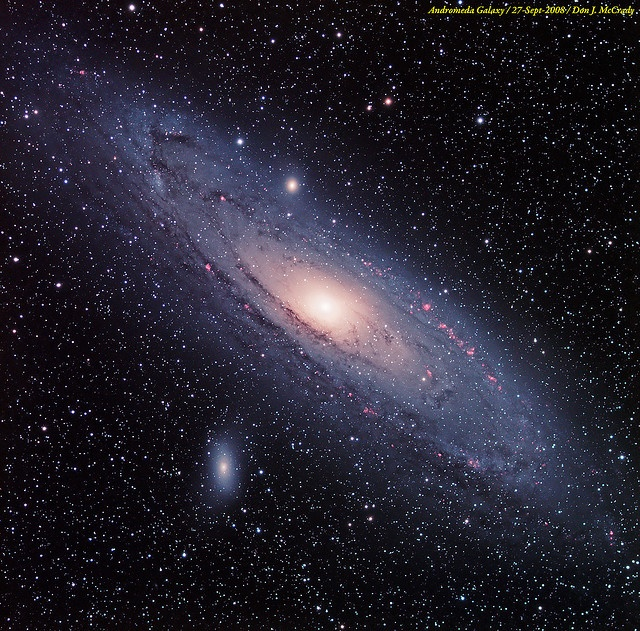 The Andromeda Galaxy. It has at least 100 billion stars and probably over 1 trillion planets