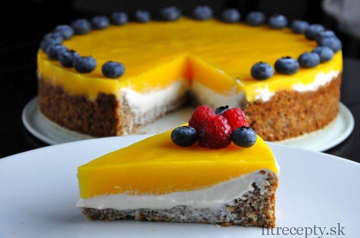 Mangový koláč s plnkou z ricotty - FitRecepty