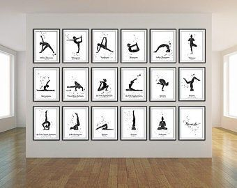 a4 printable yoga poster  hathayoga asanas  educational
