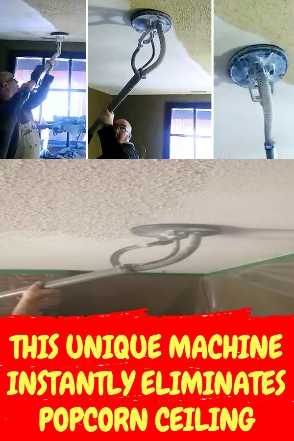 This Unique Machine Instantly Eliminates Popcorn Ceiling