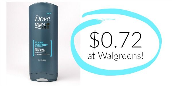 Walgreens: Dove Men+Care Body Wash Only $0.72!