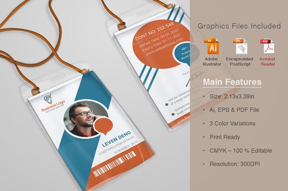 Dazzling Corporate Office ID Card  @creativework247