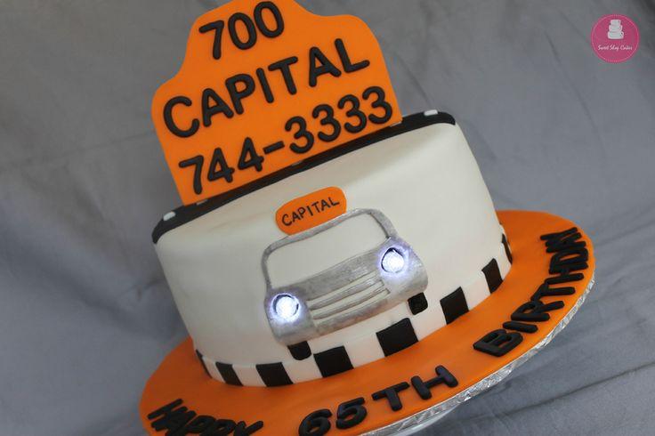 Taxi themed birthday cake