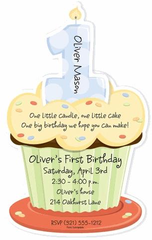 Cupcake Invitations!First Birthday Cupcakes, Birthday Parties, 1St Bday, Birthday Invitations, 1St Birthday, First Birthdays, Parties Ideas, Baby, Birthday Ideas