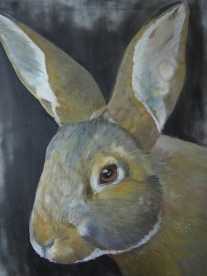 Painting of a rabbit  http://cindyheijkoop.blogspot.com/
