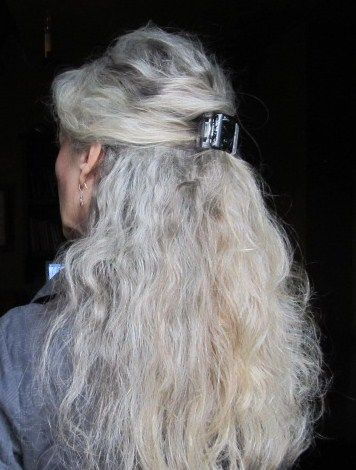 I would adore long,beautiful grey hair like this!!! Wouldn't anybody? lol I came so close to coloring my hair today. But I didn't cave. I have about 4 to 6 months growth so far. I get so tempted!