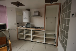A range of kitchen carcasses and drawer base units