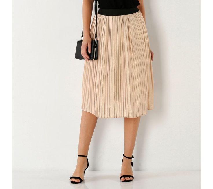 Plisovaná sukně s pružným pasem | blancheporte.cz #blancheporte #blancheporteSK #blancheporte_sk #novakolekce #jaro #leto