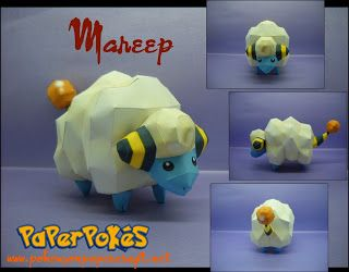 Ninjatoes' papercraft weblog: D/L #papercraft Pokemon 179 Mareep: