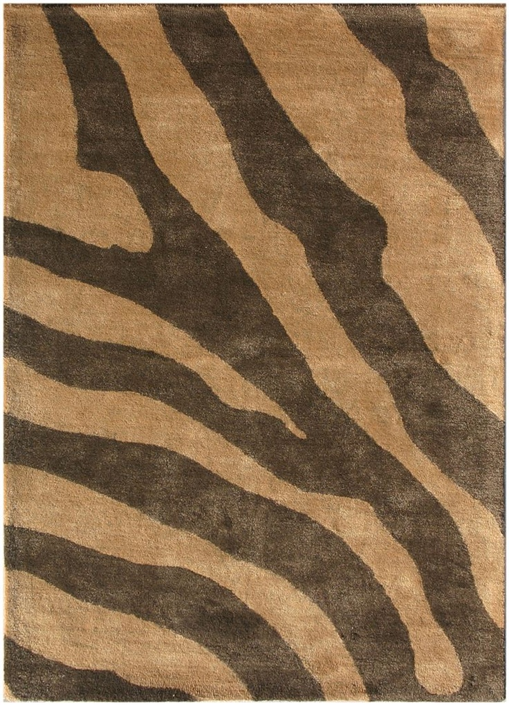 Jaipur Rugs Raymond Waites Collection Animal Instinct Area Rug In Dark Brown
