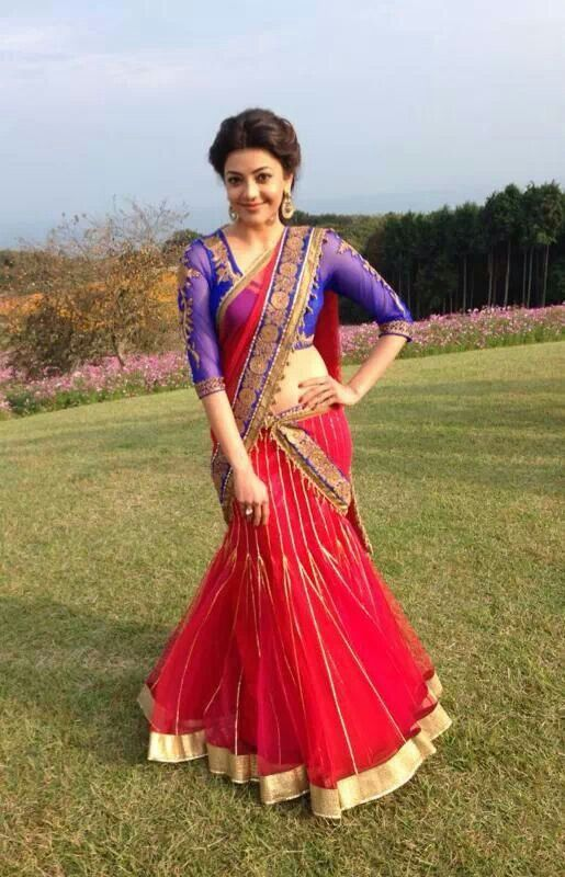 kajal agarwal traditional dress - photo #18