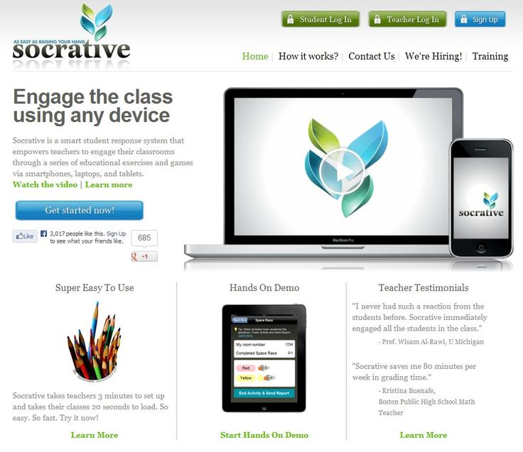 Socrative Free Online Assessment Tool. Make assessment easier for you and more fun for the students!