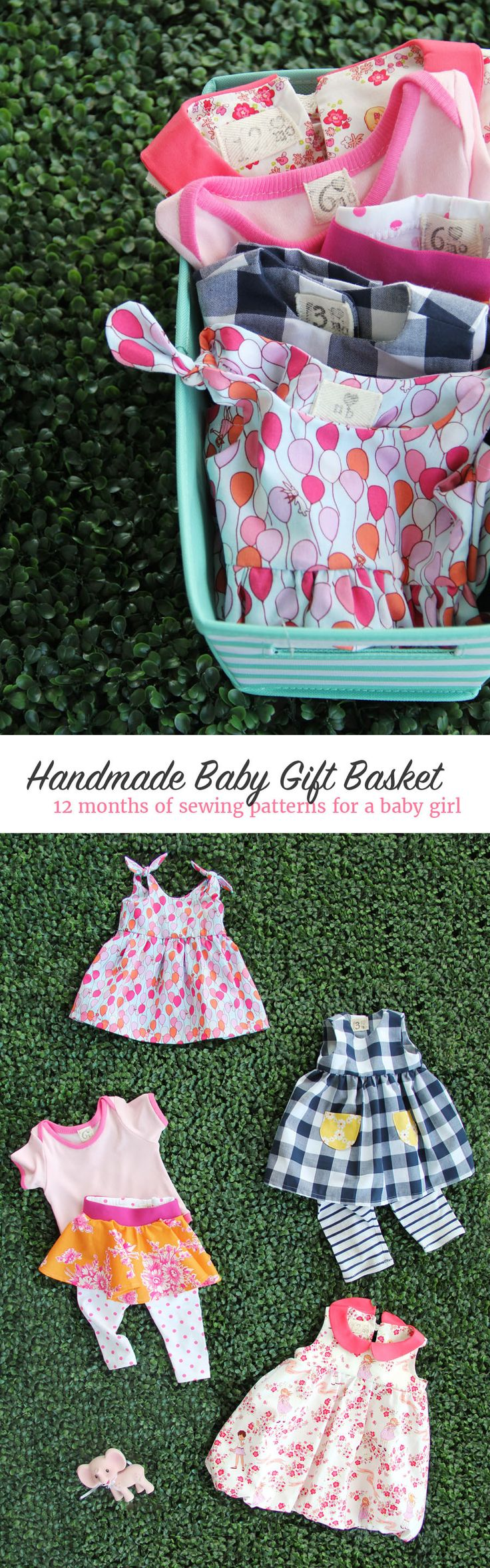 Handmade Baby Gift Basket Idea || 12 months of sewing patterns for a baby girl