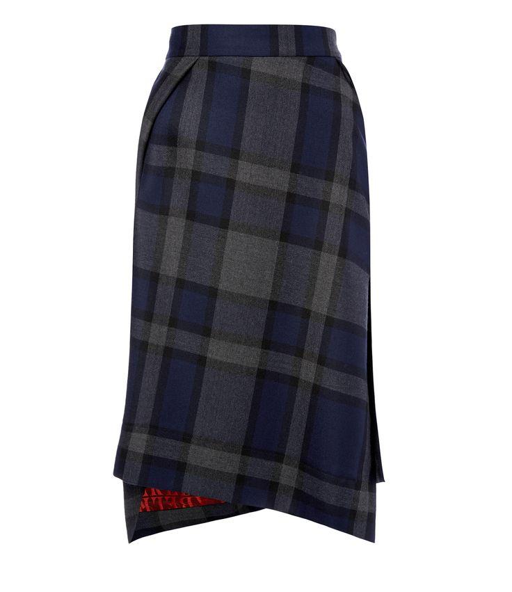 Tartan Case Skirt Navy | Vivienne Westwood Red Label AW1415. Please like http://www.facebook.com/RagDollMagazine and follow @RagDollMagBlog @priscillacita