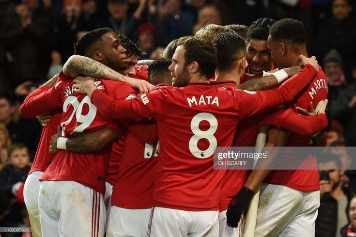 Manchester United's English striker Marcus Rashford ...