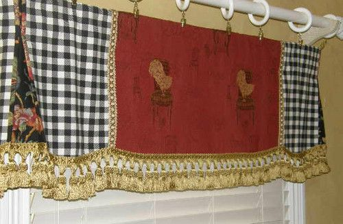 Custom Valance Curtain French Country Provence Red Gold