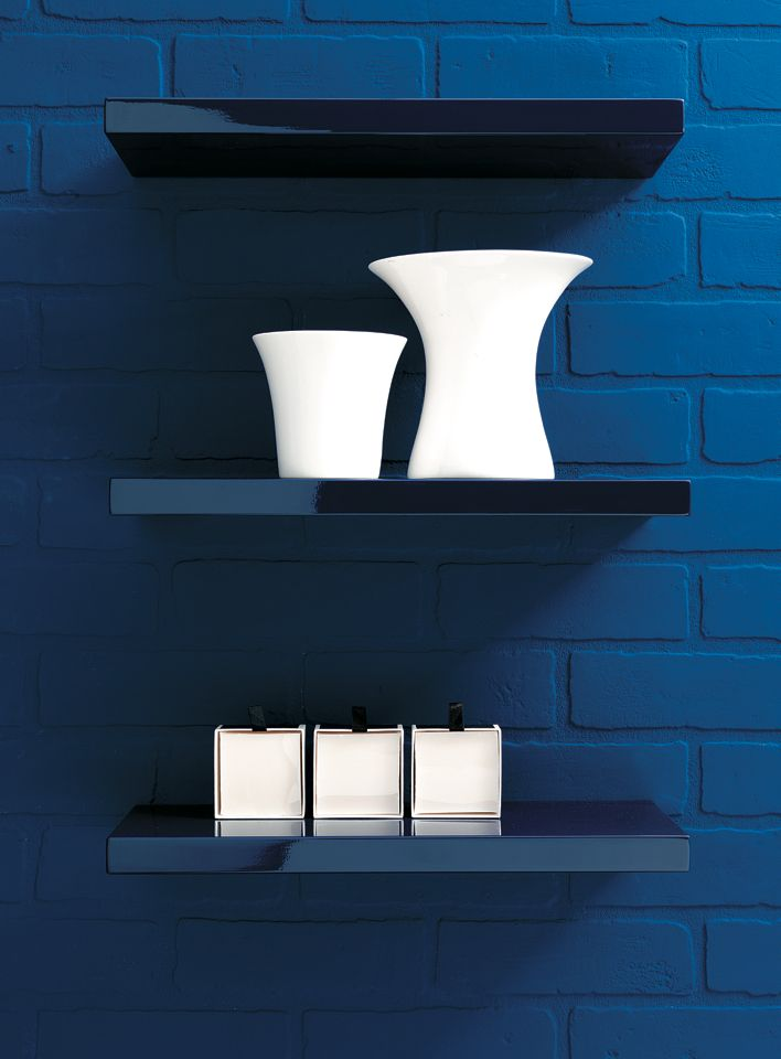 Lacquered shelves