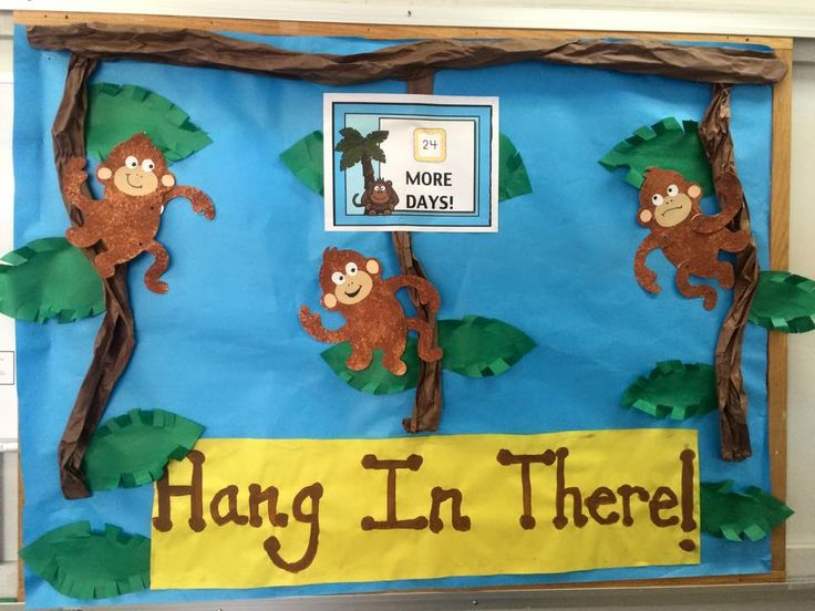 End of the Year Bulletin Board, Countdown Bulletin Board, Monkey Bulletin Board, Teacher Lounge Board