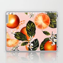 Citrus paradise. Tropical pattern with oranges Laptop & iPad Skin