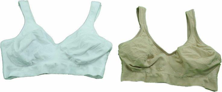 Bali Comfort Revolution 2-Pack Ladies Small 36C Wirefree Bras Tan/White