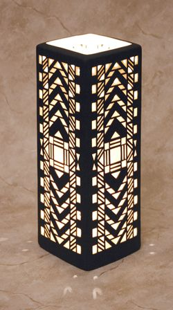 Cool art deco lamp!