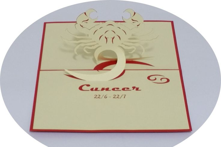 Cancer 22 June – 22 July - 3D Pop Up Cards - Greeting Cards - Ovid Gifts