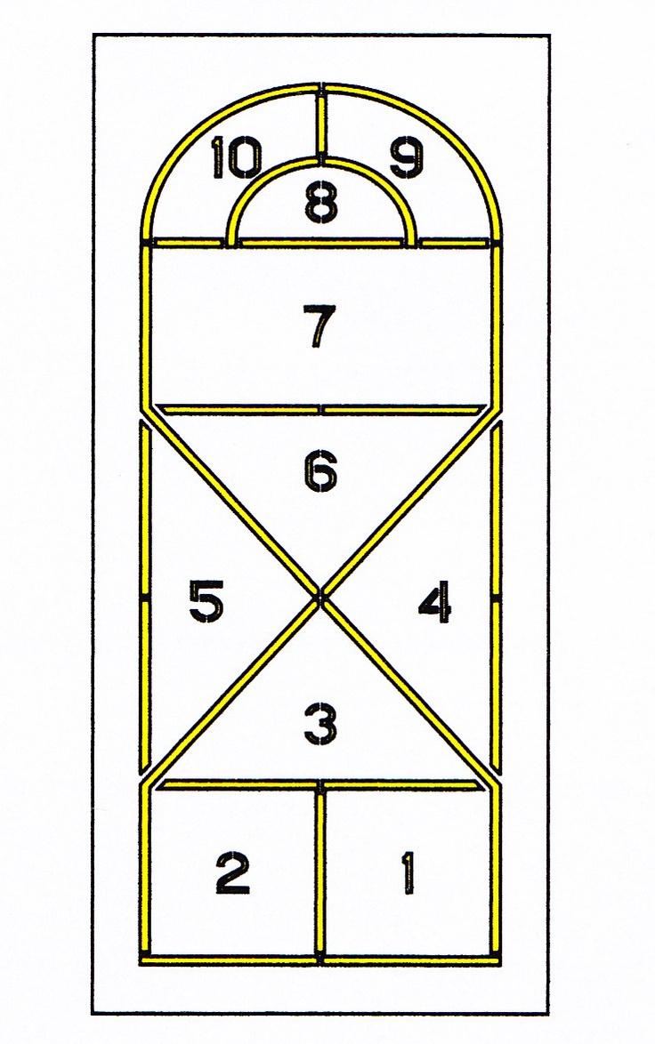 Finally The Hopscotch Court I RememberHopscotch Pattern Stencils Kits