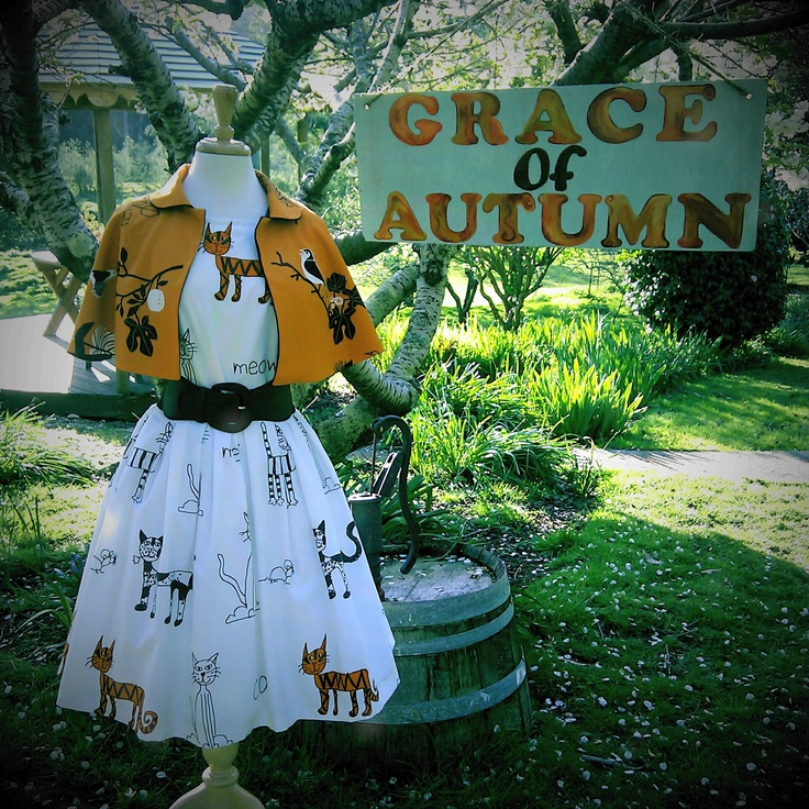 Bird Twitter Capelet and Chesire Cat Dress by Grace of Autumn