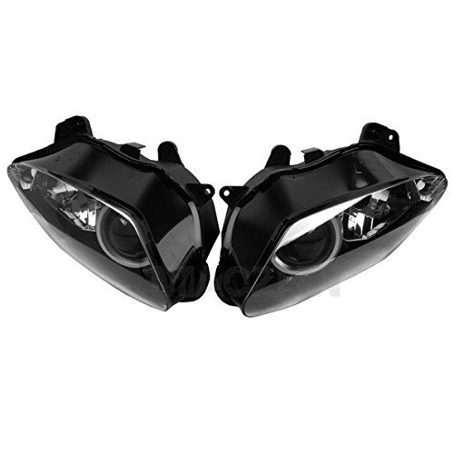 Tengchang Black Left & Right Headlight Head Light Lamp Cover For Yamaha YZF R1 R-1 YZFR1 2007-2008