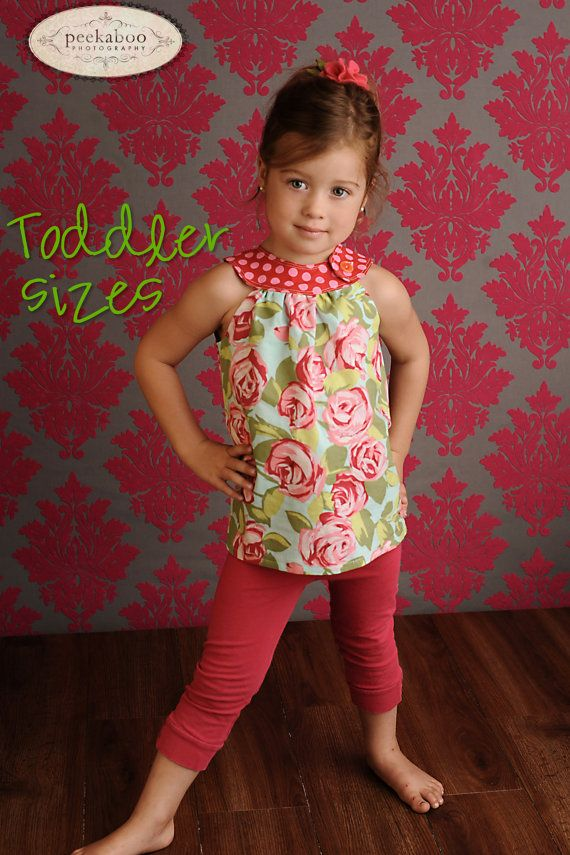 Circle-Top Shirt PDF Pattern, Toddler Girl 12-18 months to 5T