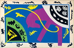 Henri Matisse (1869 -1964)  The Horse, the Rider and the Clown, 1943-4  Maquette for plate V of the illustrated book Jazz, 1947 Digital Image: © Centre Pompidou, MNAM-CCI, Dist. RMN- Grand Palais / Jean- Claude Planchet Artwork: © Succession Henri Matisse/ DACS 2014