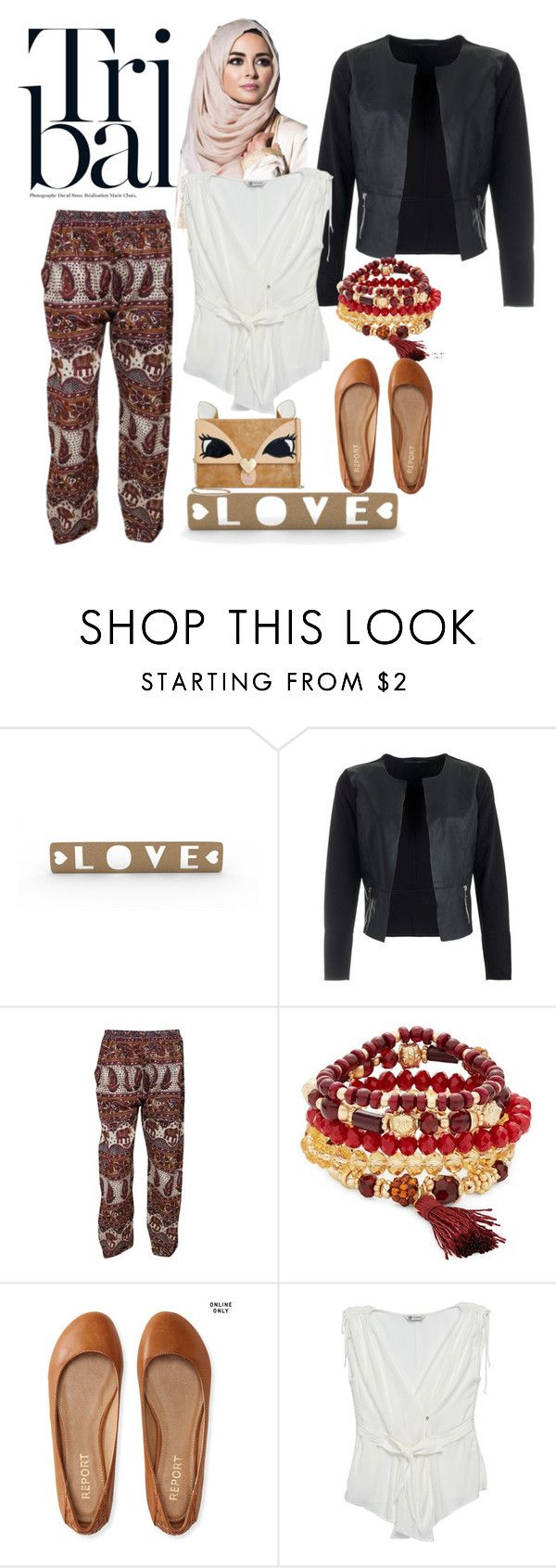 """""""Tribal Hijabers"""" by nimas on Polyvore featuring Design Lab, Aéropostale, Bobeau and Betsey Johnson"""