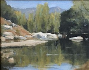 Santa Margarita River Trail by Mike Hill in the FASO Daily Art Show