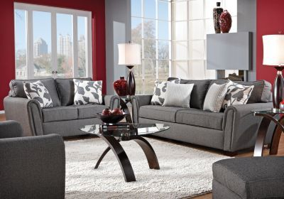 I'm thinking I want to change my living room colors to red and gray.