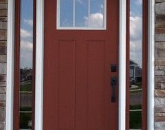 Front Door Color SW 2838 Polished Mahogany   Houzz Fence Stain And Front  Door Maybe Garage