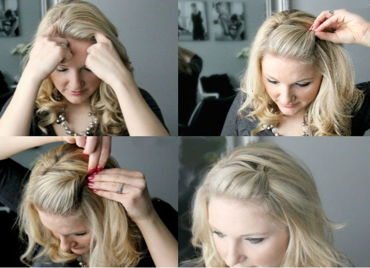 Hairstyles For Short Hair Using Bobby Pins: BANGS BE GONE Wanna Get Those Bangs Out Of Your Face? Do