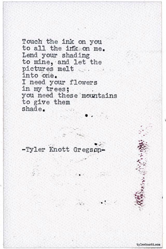 Typewriter Series #1765 by Tyler Knott Gregson