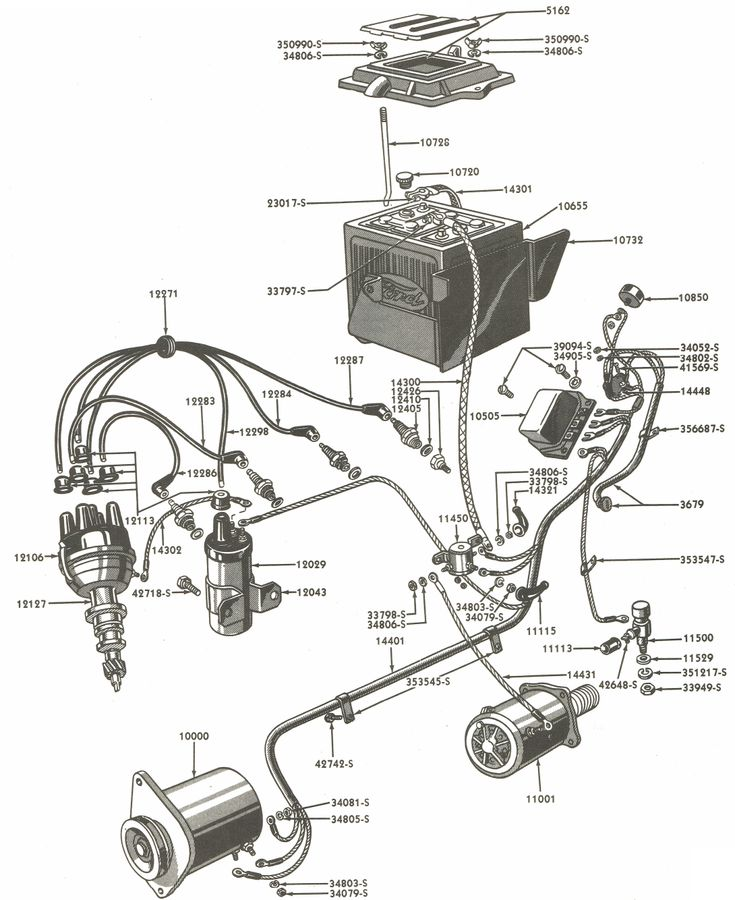 Image Ford Wiring Diagram Ford Naa And Jubilee Wiring