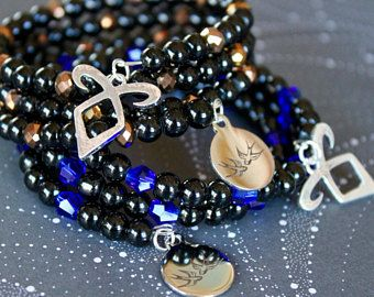 Herondale Infinity Wrap Bracelets, Shadowhunter, Will Herondale, Jace Herondale, Bookish Gift, Fandom, Costume Jewelry, Angelic Power Rune