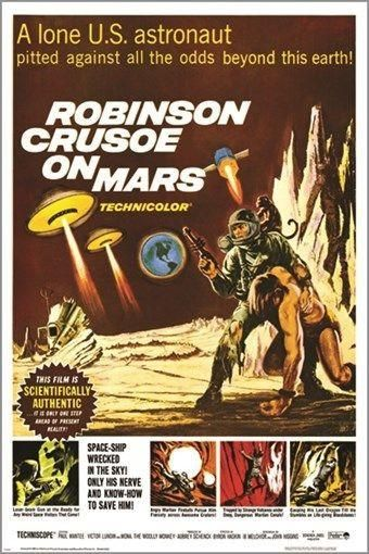 robinson crusoe on mars VINTAGE SCI-FI POSTER '64 astronaut RARE CAMPY 24X36