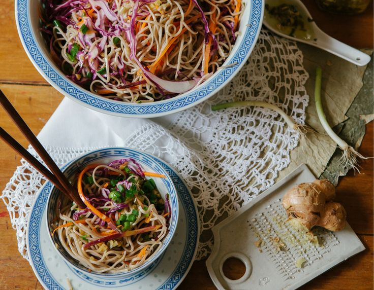 The Planthunter Issue 3: SHELTER. 'Food as Shelter: A recipe'. Arthur Street Kitchen's Hetty McKinnon shares her recipe for soba noodles with shredded vegetables and ginger shallot sauce. Images by Luisa Brimble. YUM!
