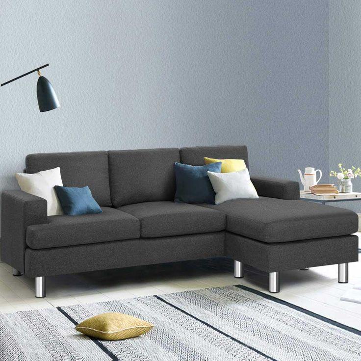 dark grey chaise lounge chair