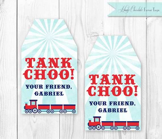 Train Birthday Party  Printable Favor Tags by HauteChocolateFavors, $8.00