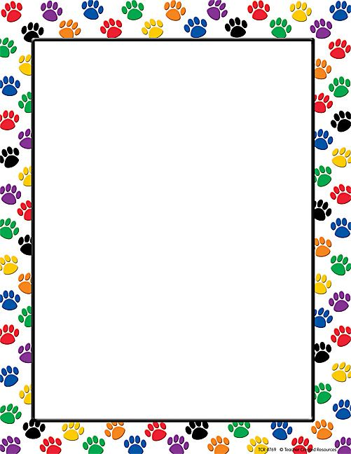 Colorful Paw Prints Computer Paper (TCR4769) « Products | Teacher Created Resources #TeacherCreatedResources and #ChevronClassroom