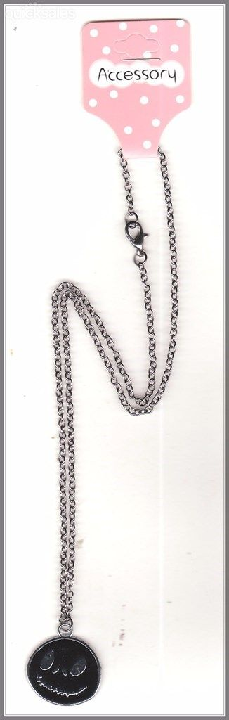 Nightmare Before Christmas Charm Gunmetal Grey Chain Necklace by MadAboutIncense - $10.50